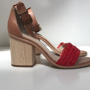 Anthropologie heeled sandal